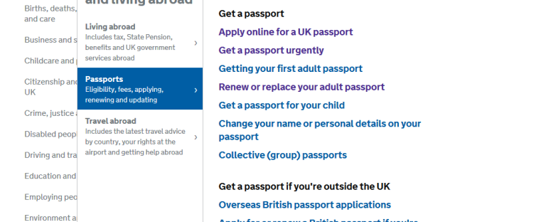 track passport application status uk