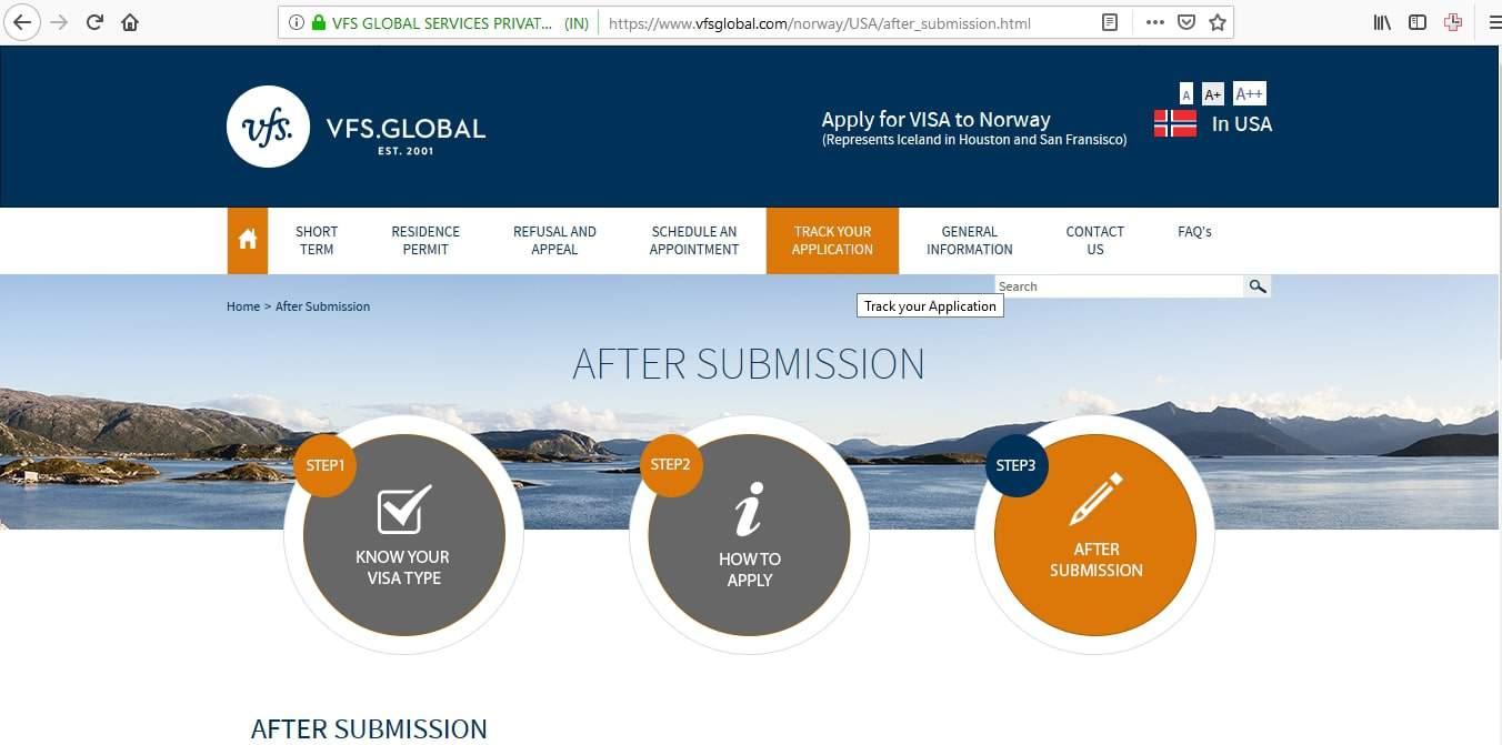 track your visa application vfs