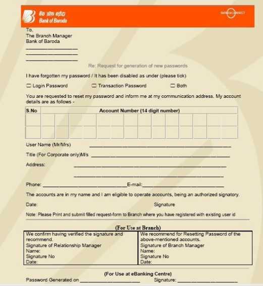 ib net banking application form