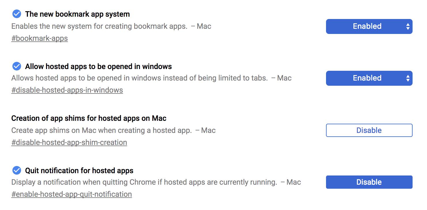 chrome launch application settings mac