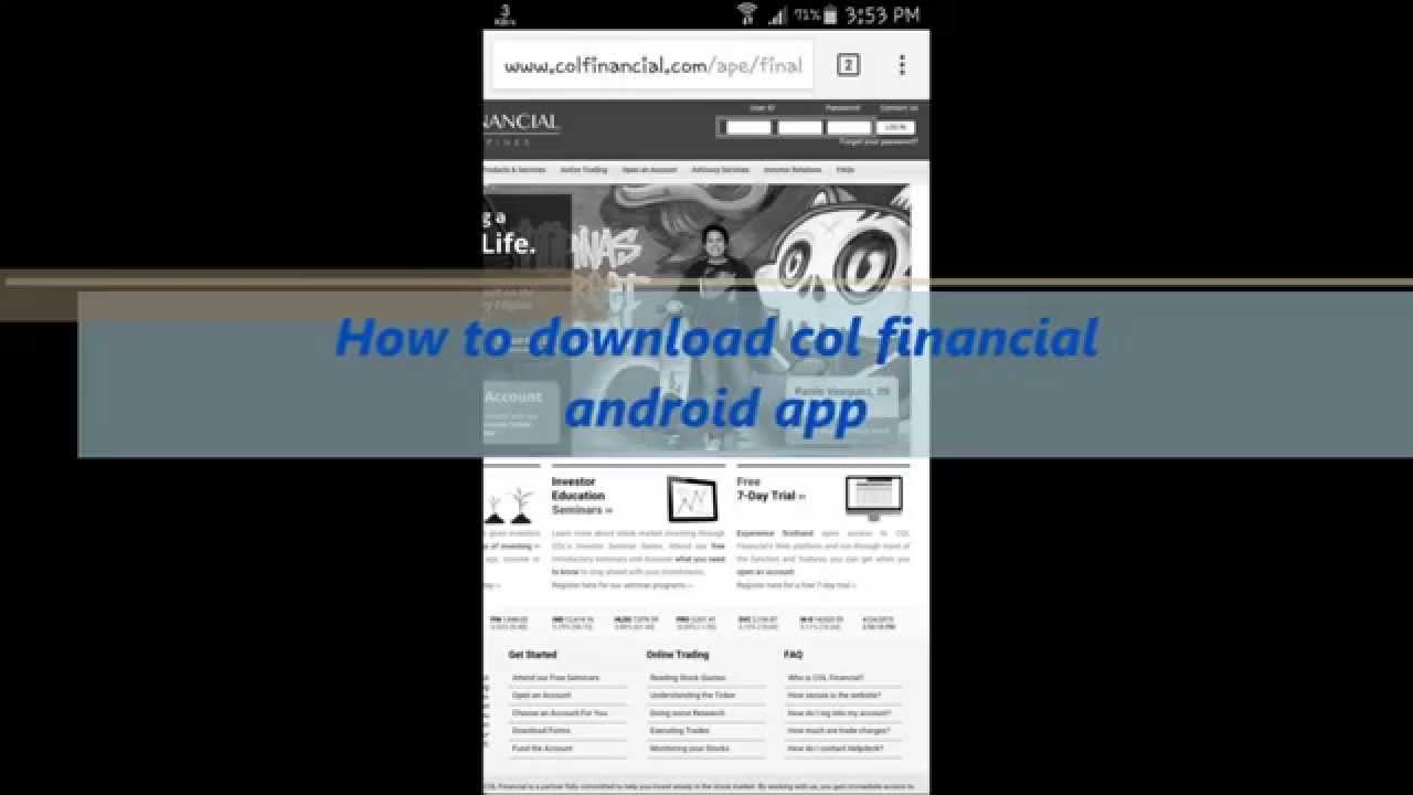 how to send application to col financial
