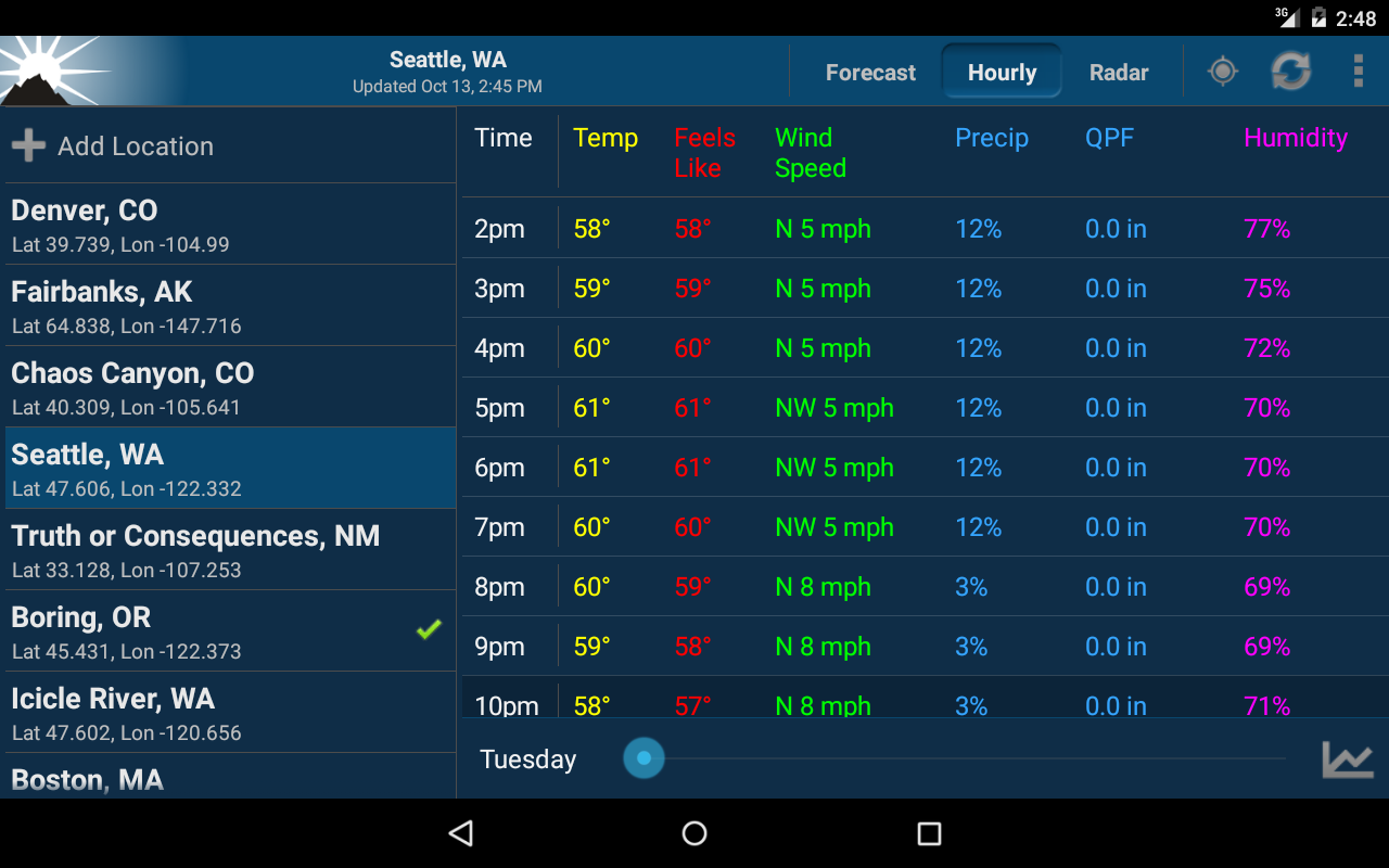 weather application download for android