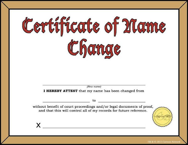 application to amend name on the title