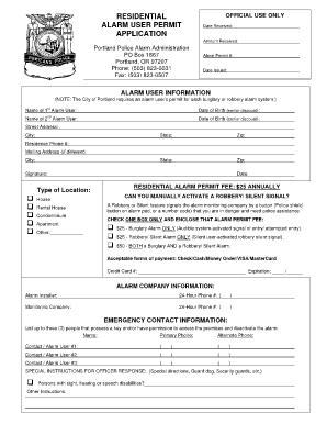 city of portland permit application