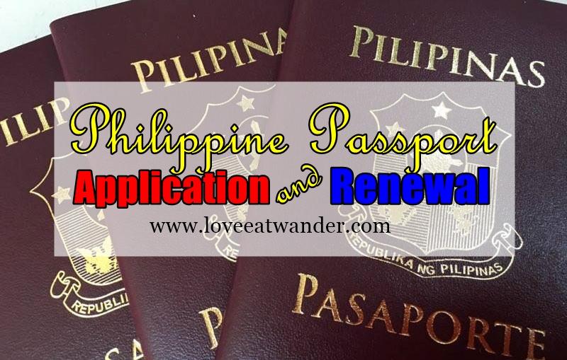philippine consulate passport renewal application