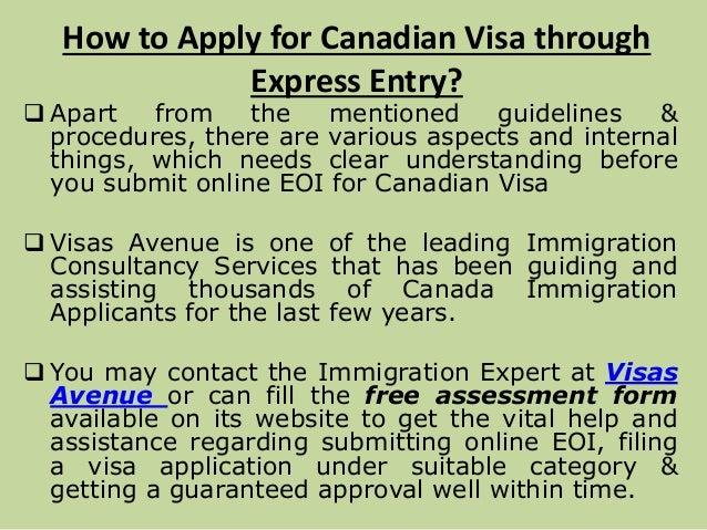 permanent visa application for canada
