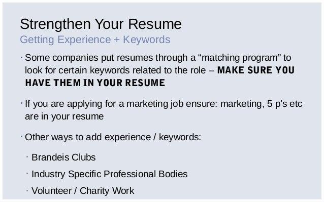 can you put internship on job application