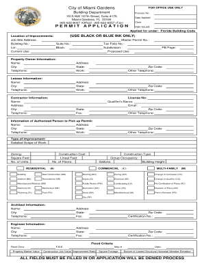 application for forms and building
