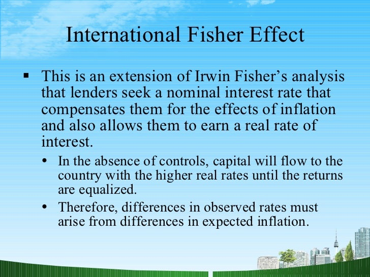 applicability of the fisher effect