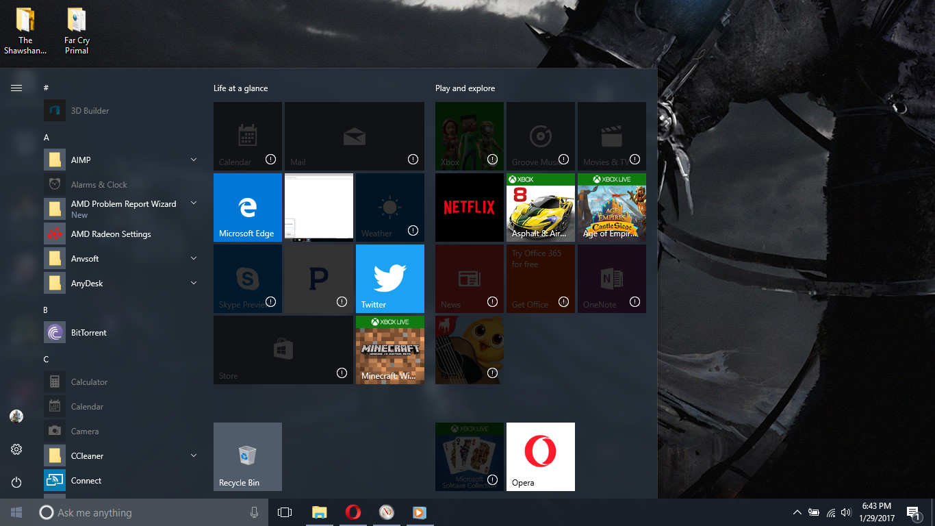 windows 10 store and other applications not opening